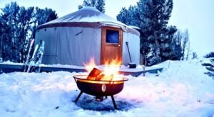 You'll Find A Remote Glampground In Nevada's Ruby Mountains, And It's Ideal For Winter Snuggles And Relaxation