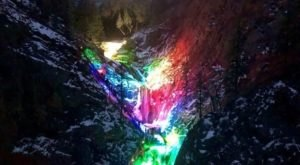 Visit One Of The Only Christmas Light Waterfalls In The Country At Seven Falls In Colorado