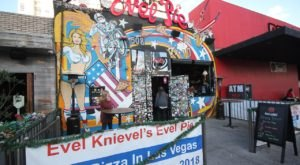 The Wackiest Pizzeria In Nevada, Evel Pie, Is Filled With Evel Knievel Memorabilia