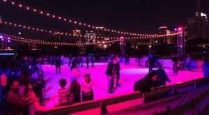 Take A Spin Around An Ice Rink And A Ride Down An Ice Slide At Railroad Park In Alabama