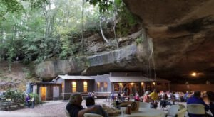 Try The Spectacular 2-Pound Burger At Rattlesnake Saloon, An Unsuspecting Alabama Cave Restaurant