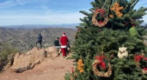 You Can Hike To See A Christmas Tree Atop Camelback Mountain In Arizona For A Limited Time