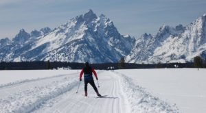 Cross Country Skiing Through Grand Teton National Park In Wyoming Is The Perfect Way To Find Tranquility This Winter