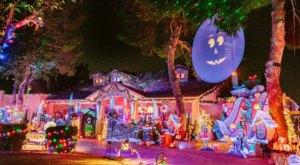 Halloween Christmas House Just Might Have The Wackiest Neighborhood Christmas Light Display In All Of Arizona
