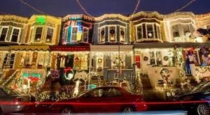 34th Street Just Might Have The Wackiest Neighborhood Christmas Light Display In All Of Maryland