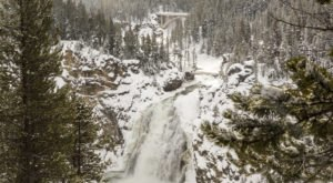 Wyoming's Grand Canyon Of The Yellowstone Looks Even More Spectacular In the Winter