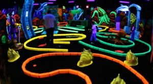 Branson's Wild World Is A Blacklight Mini Golf Course In Missouri That The Whole Family Will Love