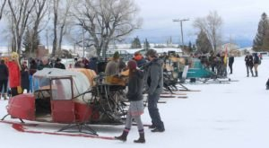 The Annual Snow Plane Rally In The Little Town Of Tetonia Is One Of Idaho's Most Unique Winter Traditions