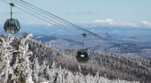 Enjoy A Uniquely Cozy Ride Through Snowy Scenery In New York With Gore Mountain's Winter Gondola
