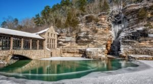 Dine While Overlooking Waterfalls At Mill & Canyon Grill Restaurant In Missouri