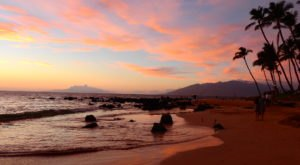 Settle In And Watch A Signature Hawaiian Sunset At Keawakapu Beach