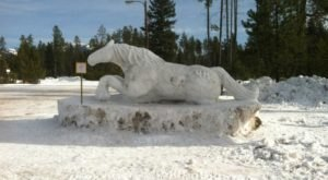 Seeing The Massive Snow Sculptures In The Small Town Of Seeley Lake, Montana Will Be Your Favorite Winter Memory