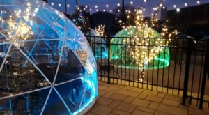 Eat Dinner In A Glowing Dome Beneath The Massachusetts Night Sky At Lock 50