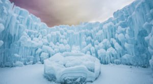 Experience Fire And Ice At This Year's Ice Castles In Utah