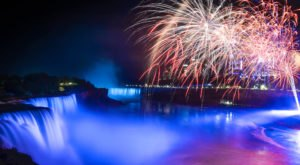 Travel To Niagara Falls State Park Near Buffalo For Mesmerizing Nightly Waterfall Fireworks