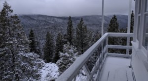 Have A Cozy Overnight Stay At A Fire Lookout Tower With 360-Degree Views In The Northern California Mountains