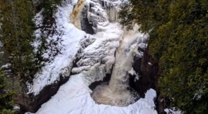A Snowy Hike Through The Woods At Minnesota's Judge C. R. Magney State Park Leads To A Spectacular Frozen Waterfall
