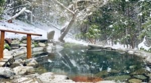 Sit In The Midst Of A Snowy Landscape And Soak In The Water At Oregon's Breitenbush Hot Springs