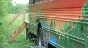 For Just $54 A Night, You Can Stay In A School Bus On A Lake In Illinois