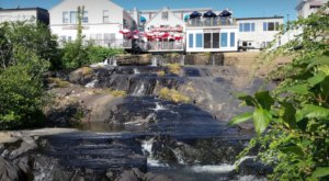 Dine While Overlooking Waterfalls At Marriner's Restaurant In Maine