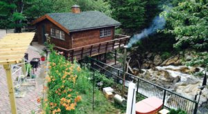 Stay In A Charming Vermont Cottage Situated Right Over A Waterfall