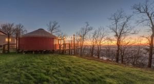 The Views From This Cherry Blossom Yurt Rental In Georgia Are Pure Magic