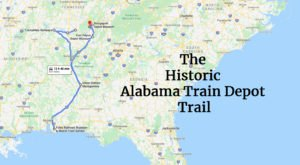 Follow The Historic Alabama Train Depot Trail For An Unforgettable Adventure Through Time