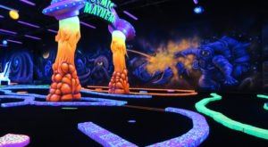 Cosmic Mayhem Is A Blacklight Mini Golf Course In Texas That The Whole Family Will Love