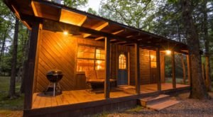 This Tiny One-Room Cabin Nestled In The Woods In Oklahoma Makes For A Simple And Tranquil Escape