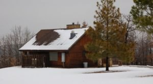 Enjoy A Charming Winter Night In The Cabins At Keystone State Park In Oklahoma