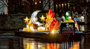 A Chinese Lantern Boat Parade Is Lighting Up The San Antonio River Walk In Texas Until February 8