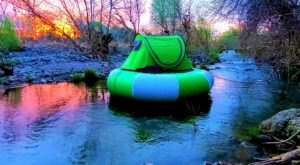 Camp Right On The Water In This Floating Tent In Arizona