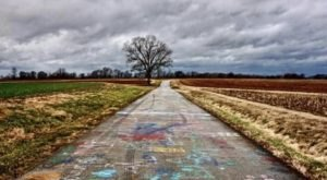 Drive Along Spray Paint Road, A Work Of Art In The Middle Of A Cornfield In Kentucky