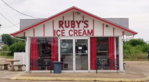 Treat Yourself To A Huge Ice Cream Cone At Ruby's Ice Cream In Missouri
