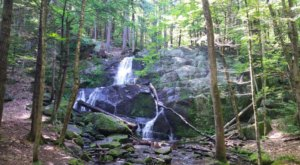 Rainbow Falls Is An Easy Hike In New Hampshire That Leads To A Secret Waterfall