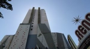 The Tallest Climbing Wall In The World Can Be Found At BaseCamp, A Rock Climbing Park In Nevada
