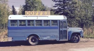 Uncle Leroy's Coffee In Alaska Got Their Start On A Charming Blue School Bus