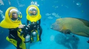 Walk Underwater In Your Own Mini Submarine With Billy Ocean Underwater Adventures In Florida