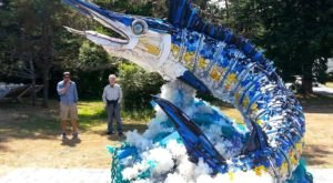 The Sea Creature Sculptures At The Washed Ashore Exhibit In Oregon Are All Made From Ocean Debris