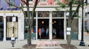 Look For The Three Little Pigs And Then Step Inside Liberty's Bar & Bottle In Cincinnati