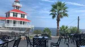 Enjoy A Sunset Over The Water At Landry's Seafood House In New Orleans