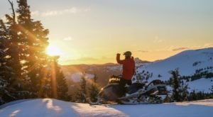 Take A Snowmobile To Elk Lake Resort In Oregon For A Unique Winter Vacation