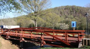 Built In 1878, The Bowstring Truss Bridge In Montgomery County Is The Oldest Metal Bridge In Virginia