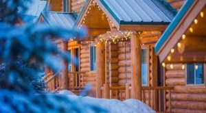Explore The Forest On A Snowmobile, Then Snuggle Into The Cabins At Bear River Lodge In Utah