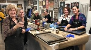 Enjoy Cocktails While Creating Unique Wood Decor At Board And Brush In Mississippi