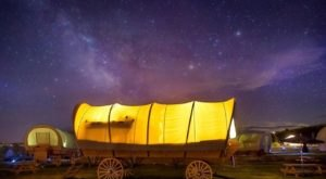 Stay The Night In A Old-Fashioned Covered Wagon At Conestoga Ranch In Utah