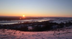 Watch The Sunrise Over The Missouri River In North Dakota On This Leap Day Hike
