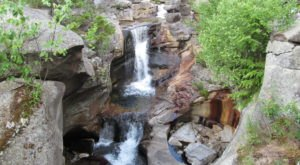 Take The Simple Screw Auger Trail Trail To A Double Waterfall In Maine
