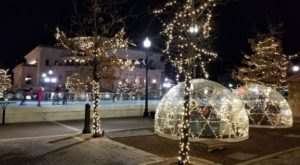 Spend A Clear Winter Night Under The Stars Inside The Ice At Center Green Igloos In Indiana