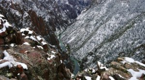 Colorado's Grand Canyon, The Black Canyon Of The Gunnison, Looks Even More Spectacular In The Winter